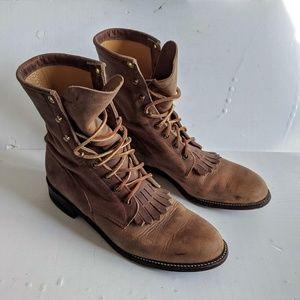 Justin Boots Lace Pioneer Keltie L0575 Women's 8.5